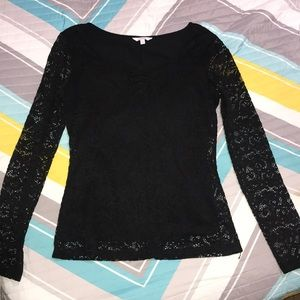 Candie's black lace top
